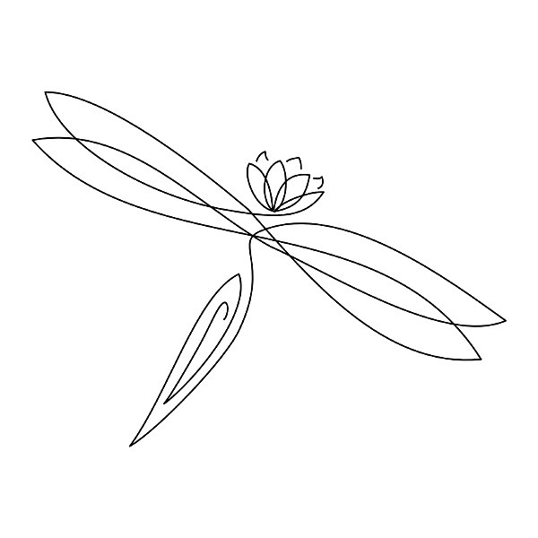 Dragonfly Tattoo Line Drawing : E dc z g