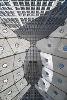 France - Paris - La Defense - Grande Arche underside