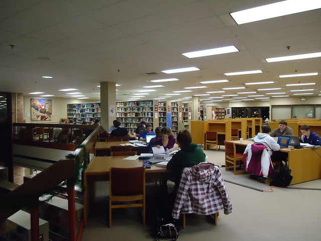 Late Night at Miller Library - Fall 2010