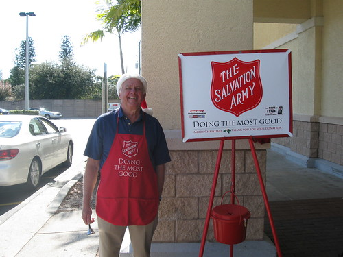 Salvation Army Bell Ringer In Ft Myers