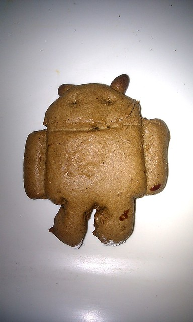 Gingerbread Android Cookie