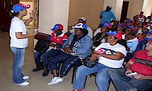 Mayra Villafranca explains the Cuban health mission in Haiti to new personnel arriving in the fellow African-Caribbean nation. Haiti suffered an earthquake of Jan. 12, 2010 and was hit by a cholera epidemic in Nov. by Pan-African News Wire File Photos