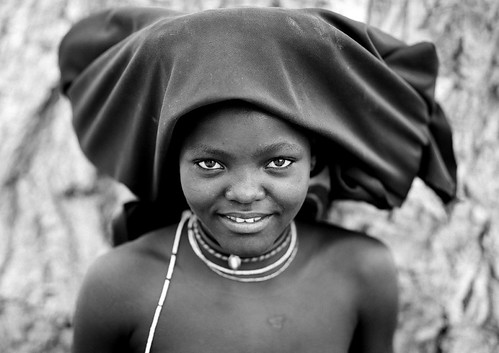 A Mucubal beauty in black and white - Angola by Eric Lafforgue