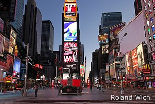 New York - Times Square at dawn