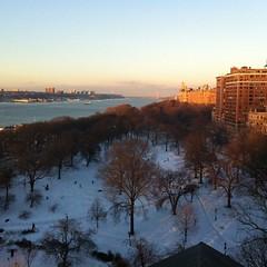 Riverside Park Sunset w/ Snow