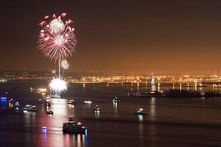 New York Harbor at the Stroke of Midnight Jan 1, 2011