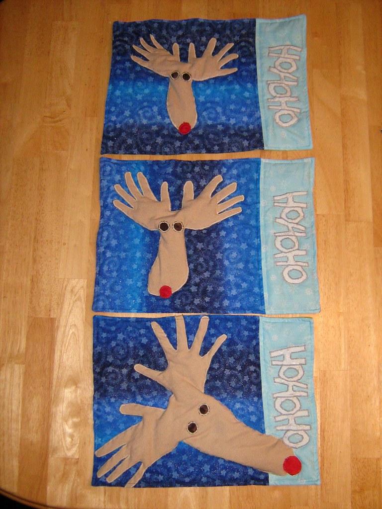 Hand Footprint Reindeer Craft