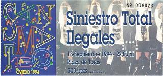 Siniestro e Ilegales. Oviedo 1994
