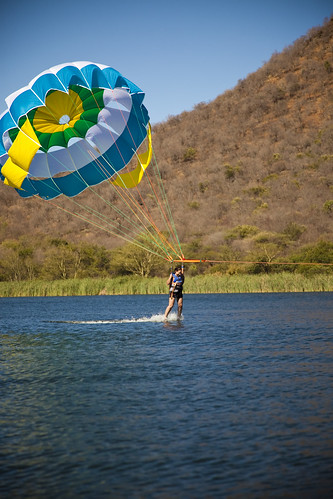 Parasailing at Waterworld, Sun City