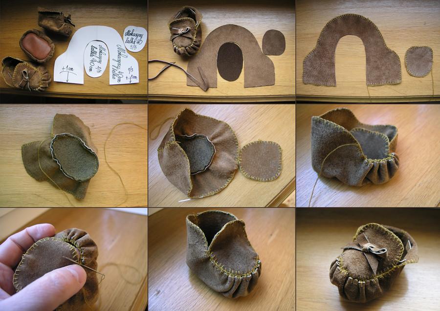 Как сшить обувь для куклы большеножки