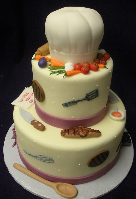 Birthday Cake Designs For A Chef : Chef Cake Flickr - Photo Sharing!
