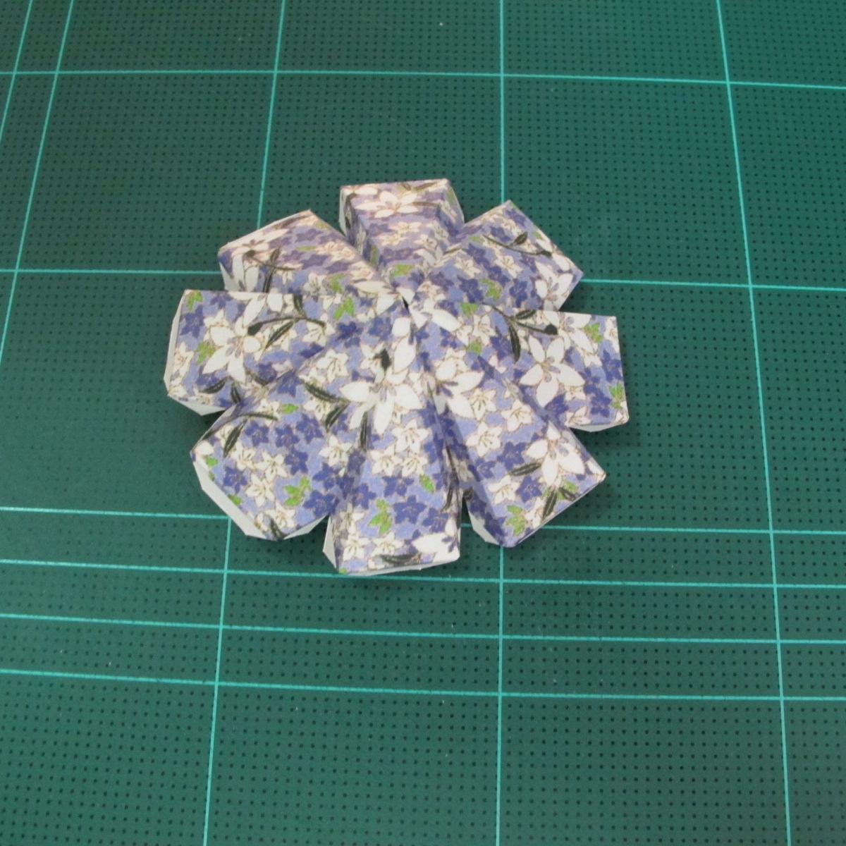 วิธีทำโมเดลกระดาษสำหรับตกแต่งทรงเรขาคณิต (Decor Geometry Papercraft Model) 004