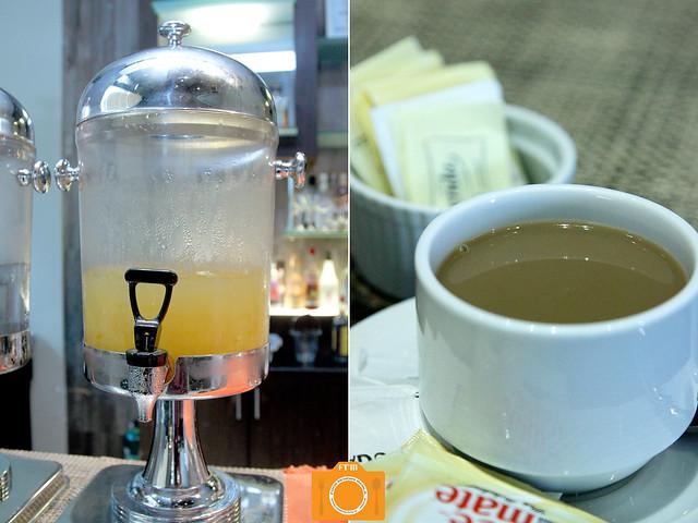 B Hotel breakfast drinks