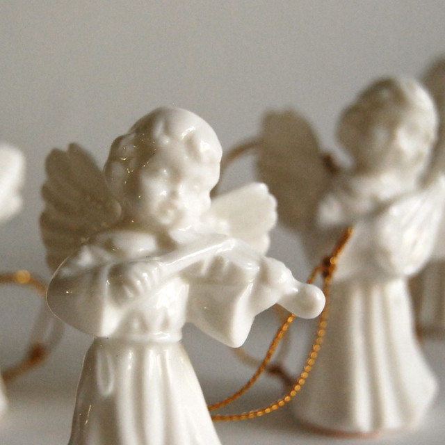 Vintage Porcelain Christmas Angel Ornaments from Gift World of Gorham