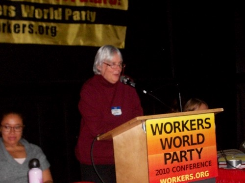 Deirdre Griswold, editor of Workers World newspaper based in New York City, addressing the National Conference for a New Urgency in the Struggle for World Socialism held on Nov. 13-14, 2010. (Photo: Abayomi Azikiwe) by Pan-African News Wire File Photos