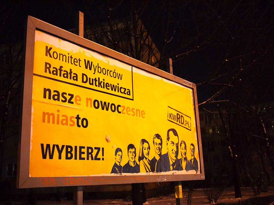 Plakat Komitetu Wyborców Rafała Dutkiewicza