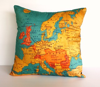 europe cushion- organic cotton