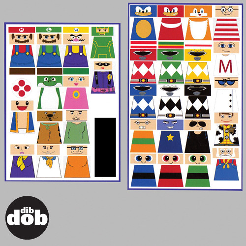 Custom LEGO Cartoon Decal Sticker Set A Photo On Flickriver - Custom decals and stickers
