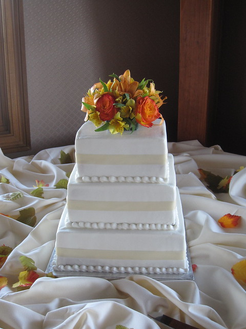 3 Tier Square Wedding Cake Flickr Photo Sharing