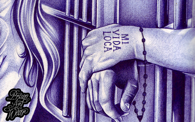 mi vida loca ballpoint pen prison art composed behind b by prisonartwear flickr. Black Bedroom Furniture Sets. Home Design Ideas