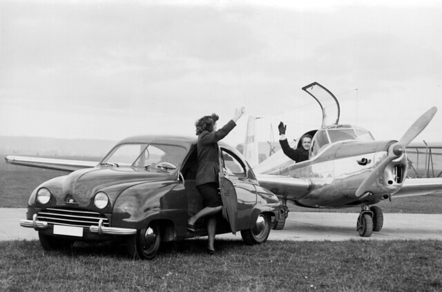 "1949 Saab 92 and Saab 91 ""Safir"" aircraft"
