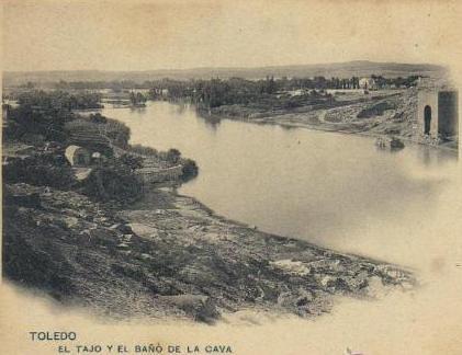 Baño de la Cava hacia 1900. Foto Cánovas (Kaulak) para Hauser y Menet
