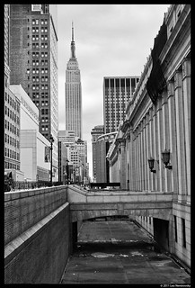 Looking East on West 33rd Street; James Farley Post office and Empire State Building
