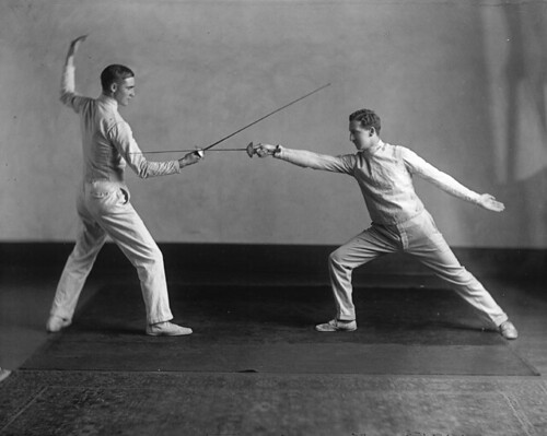 Fencers, McGill boxing, wrestling and fencing club, Montreal, 1925