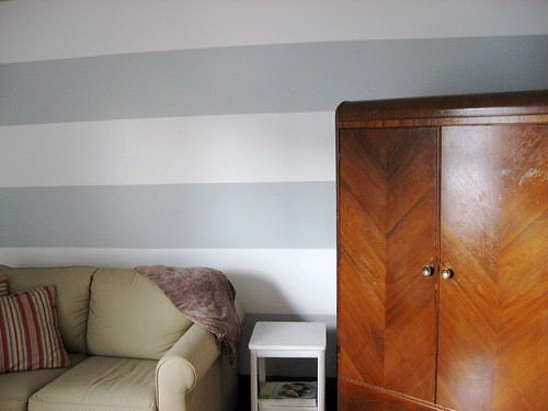 how to paint stripes on a wall decor adventures. Black Bedroom Furniture Sets. Home Design Ideas