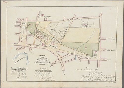Plans for Sydney Railway, 1849