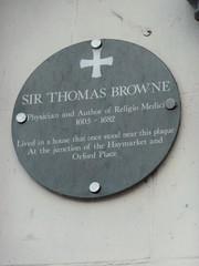Photo of Thomas Browne grey plaque