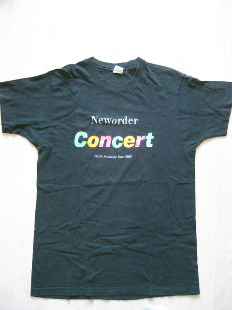 New Order Concert T-Shirt Front