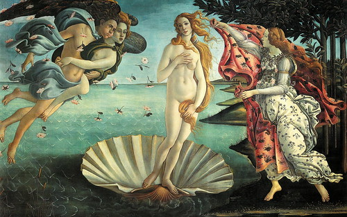 "Foto - Botticelli: ""Nascita di Venere"" - by zipckr  flickr"