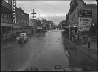High Street looking towards Town Hall, Maitland, August 1952, by Sam Hood