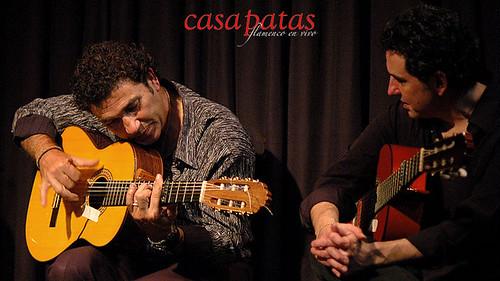 """José Luis Silva """"Morito"""" y Antonio Españadero, responsables del toque. Foto: Martín Guerrero"""