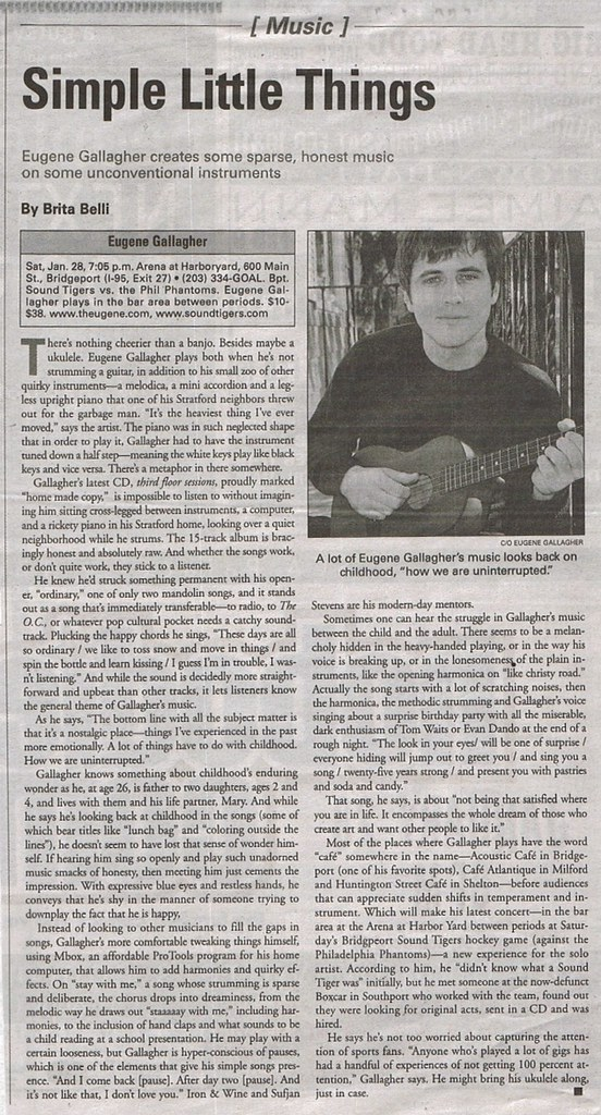 The Fairfield CT Weekly - January, 2006 - eugene gallagher