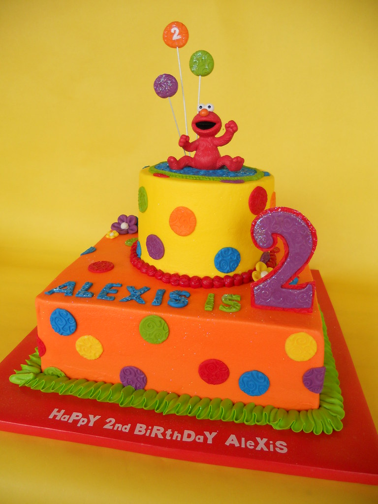 Hooray For Elmo 2nd Birthday Cake A Photo On Flickriver