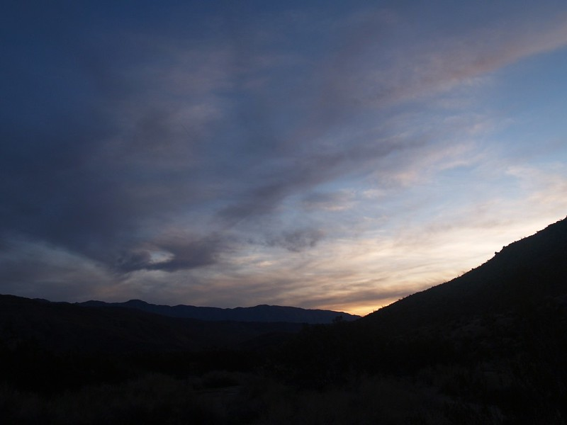 Sunrise in Collins Valley