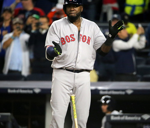 Red Sox DH David Ortiz prepares to swing at a pitch in the second inning.