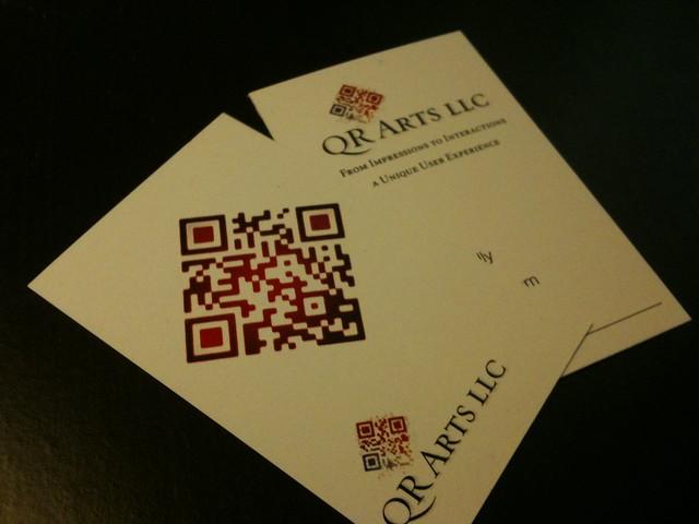 QR Arts LLC business card