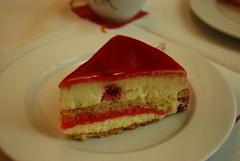 strawberries(0.0), semifreddo(0.0), strawberry(0.0), produce(0.0), torte(0.0), cake(1.0), bavarian cream(1.0), buttercream(1.0), sweetness(1.0), baked goods(1.0), food(1.0), icing(1.0), cheesecake(1.0), dessert(1.0),