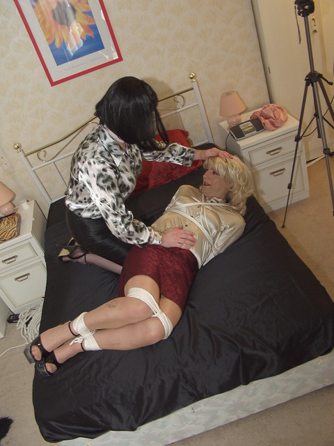 French kissing gagged and tied up