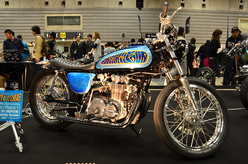 CB 500 at 19th Annual MOONEYES Yokohama Hot Rod Custom Show 2010  by TAR7480