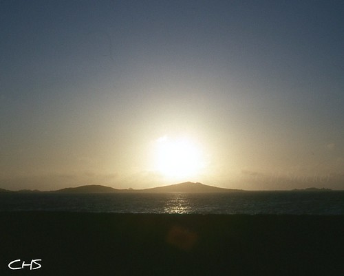Sunset over Samson, Isles of Scilly, 1979 by Stocker Images