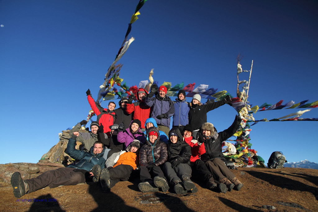 Climbers celebrating their trek at Pike Peak Summit