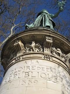 Bilde av À la gloire de la République. statue