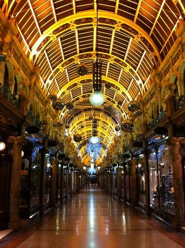 Las galerías mantienen todo el esplendor y cuidado de la época Victoriana