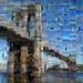Mosaics from Brooklyn Bridge, New York City
