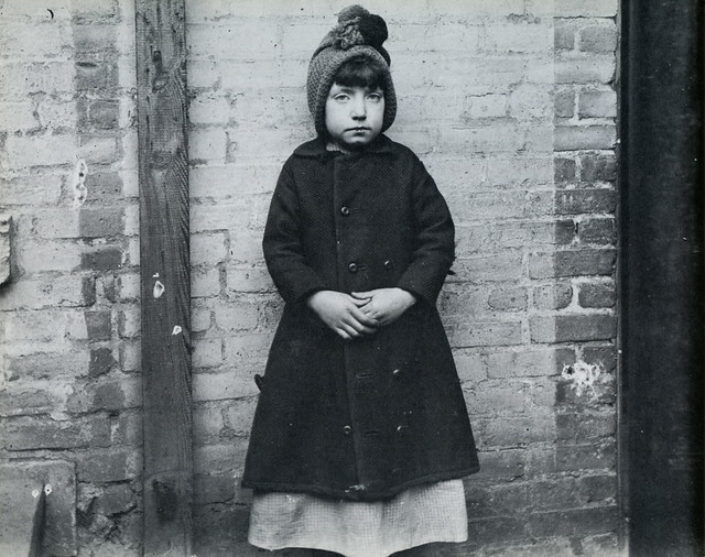 Girl from the West 52nd Street industrial school, New York, by Jacob Riis ca. 1890