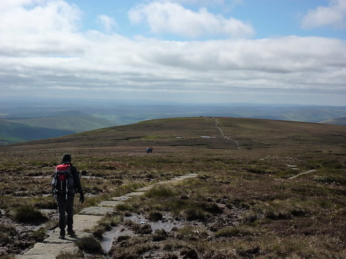 Heading back down from the Cheviot